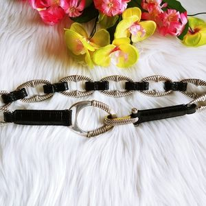 Brighton leather chain belt